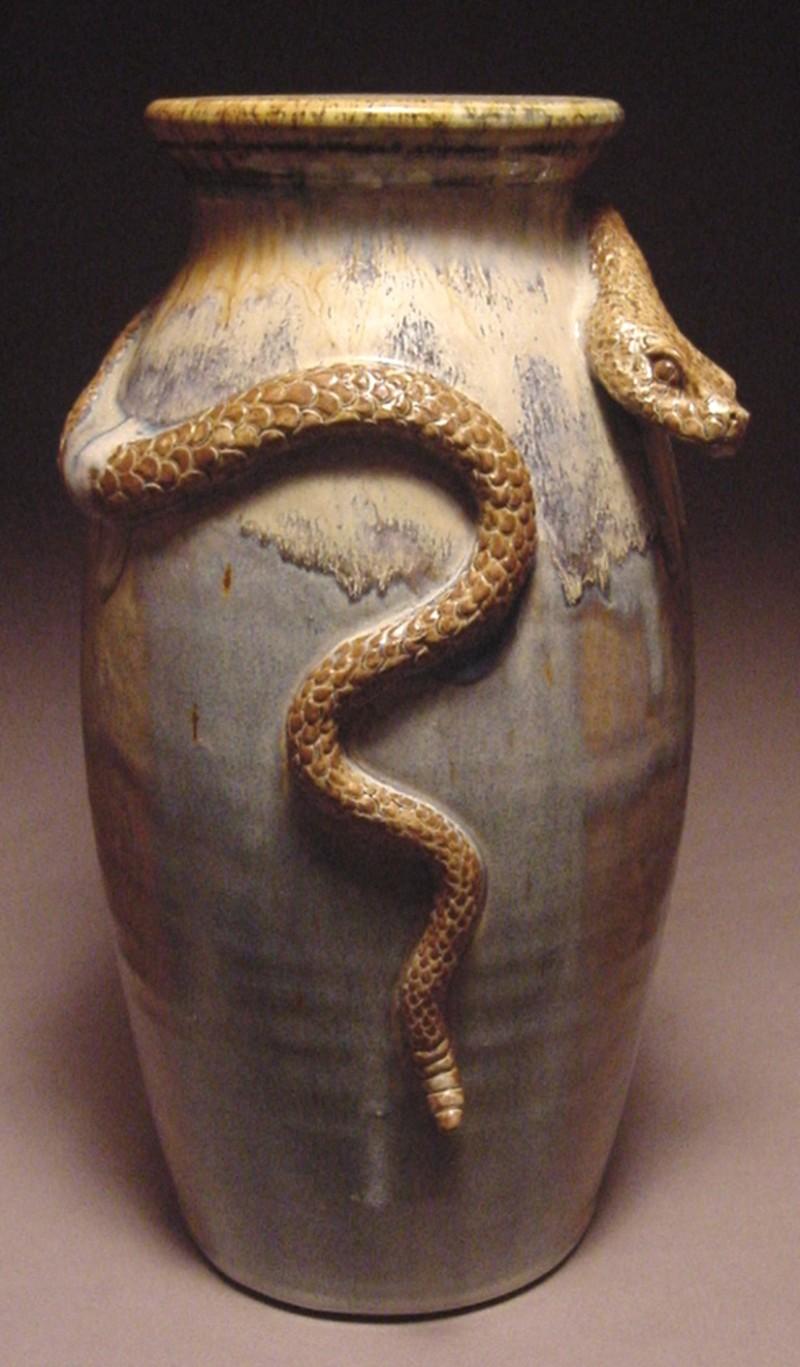 Snake Vase Mud Majik Pottery